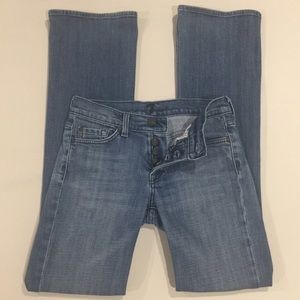 """7 FOR ALL MANKIND """"Boy Cut"""" Button Fly Jeans"""